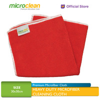 Microclean Heavy Duty Microfiber Cleaning Cloth RED 30x30cm 320 GSM