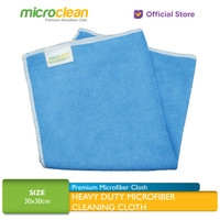 Microclean Heavy-Duty Microfiber Cleaning Cloth Soft Blue 30x30cm