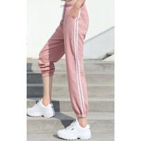 celana panjang tali karet jogger wanita fashion baju olahraga