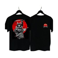 MS BF008 Kaos Distro Pria T-Shirt Pria Kaos Pria Samurai Red Moon