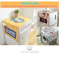 Cover Kulkas Taplak Lemari Es Alas Penutup Mesin Cuci Canvas Tebal