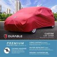 Calya Sigra Avanza Xenia Cover Body Mobil Sarung Durable Premium - Merah Lis Hitam