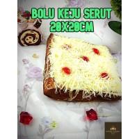 Bolu Keju Serut 20x20cm / Bolu Keju PREMIUM / Kue Bolu Lembut dan Enak