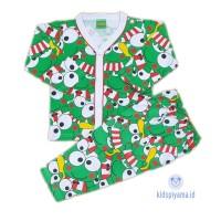 Baju Tidur Anak/Piyama Anak Keropi Kancing 1-8 Tahun - 1