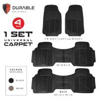 DATSUN GO PLUS Karpet Mobil Karet PVC DURABLE 4Pcs BEIGIE