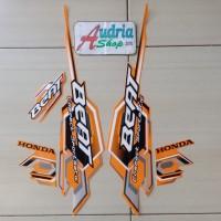 Sticker Striping Motor Honda Beat Karbu 2008 Orange