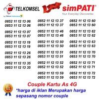 Nomor Cantik As couple telkomsel 11 12 13 Kartu Perdana Pasangan 4G