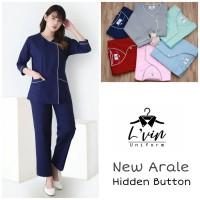 Arale Lengan Panjang Baby Sitter / Baju Seragam Suster / Nanny Uniform