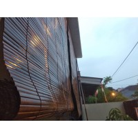 Promo !!! Tirai Bambu Hitam Murah 1 x 2