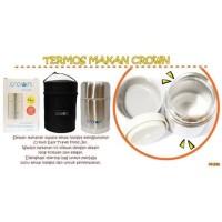 TEMPAT MAKAN BAYI STAINLESS STEEL- TERMOS BUBUR CROWN FOOD AND JAR