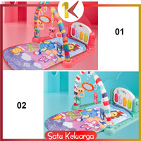 SK-M15-16 Baby Play Gym Mainan Anak Bayi Rattle & Piano Playmat Matras