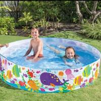 Kolam anak/kolam renang intex tanpa pompa 183cm snapset pool 56452