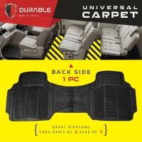 DATSUN GO PLUS Karpet Mobil Karet PVC DURABLE 1Pcs Baris 3 BEIGIE
