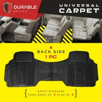 DATSUN GO PLUS Karpet Mobil Karet PVC DURABLE 1Pcs Baris 3 BLACK