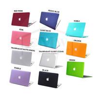Case Macbook AIR 11 Inch Matte Doff Cut Logo - Peony blue