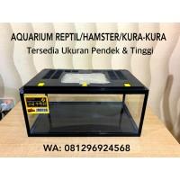 Aquarium Kandang Reptil Hamster Kura Kura Tinggi Pendek Termurah