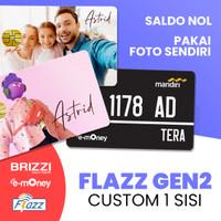 1 SISI Kartu Flazz BCA SALDO 0, Custom Foto/Design Gambar Sendiri