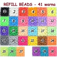 Aquabeads Refill Pack Isi 100 pcs Pilih Warna - Lengkap 30 warna