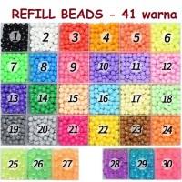 Refill Pack Aquabeads Isi 120pcs - @10 Gram Pilih Warna