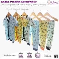 KAZEL PIYAMA BAYI KANCING TENGAH/DEPAN MOTIF UNISEX 0-18BULAN