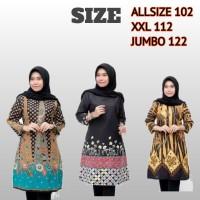 baju batik wanita tunik jumbo size 5L