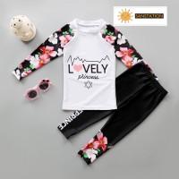 SANSTATION Baju renang Korea lengan panjang/Baju renang anak perempuan