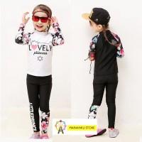 MAINANKU Baju renang korea lengan panjang/baju renang anak perempuan