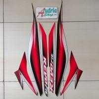 Striping Sticker Motor Honda Revo Fit 2011 Merah