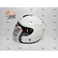 INK HELM DYNAMIC WHITE HALF FACE