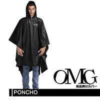 jas hujan OMG poncho ponco kelelawar japan - Hitam