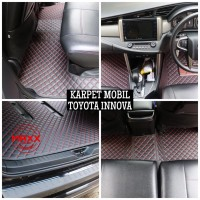 Karpet Mobil - Max Car Mat Toyota Innova 2010-2015 (7 Seat Full Set)