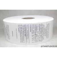 Label Pita Tafeta Sablon Label Baju Label Pakaian Washing Tag Label