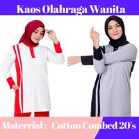 Baju Training Muslimah   Kaos Olahraga Wanita   Atasan Olahraga Wanita