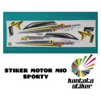 Stiker striping stiker motor mio sporty amore putih