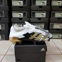 Sepatu Bola Adidas Predator 20.1 Low White Black Fg