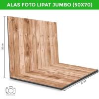 Alas Foto Lipat Jumbo Kayu 70x50 cm / Background Foto (WLJ-03)