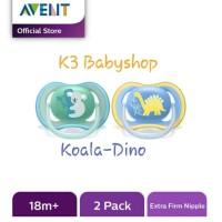 Empeng Avent Freeflow Pacifier Soother 18m+ Pack Giraffe Lion Cat Bird