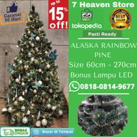 Pohon Natal Ukuran Tinggi 120cm / 4FT Alaska Rainbow Pine Tree Easy D