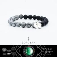SORCERY Bracelet 18K REALGOLD Gelang Kulit Pria Wanita-NatStone01