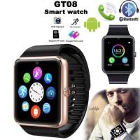BIDEN Smartwatch GT08 pria Bluetooth Phone SIM Card Camera jam pria