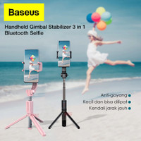Tongsis Tripod Selfie Stick Stabilizer Baseus Remote Selfie Gimbal