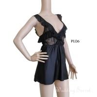 Baju Tidur Dress Sleep Wear Sexy Lingerie Premium Gown Lace Wnita PL06