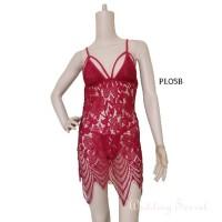 Baju Tidur Dress SleepWear Sexy Lingerie Premium Gown Lace Wnita PL05B