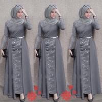 MAXI LAKSHANA ABU [Gamis 0129] SHU Baju Gamis Wanita Terbaru