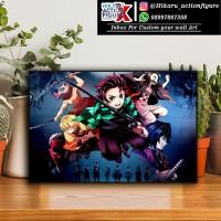 Wall Art / poster kayu Super Glosy Anime: Kimetsu no Yaiba (20cmX30cm)