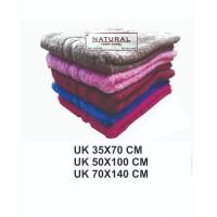 HANDUK MANDI NATURAL PREMIUM POLOS UK 35 X 80 CM