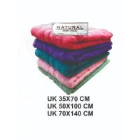 HANDUK MANDI NATURAL PREMIUM POLOS UK 70 X 140 CM