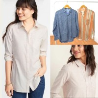 Old Navy Linen Shirt - Kemeja Casual Wanita Original