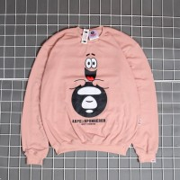 Jaket Sweater Bape Crewneck Aape x Spongebob Premium Cotton Unisex