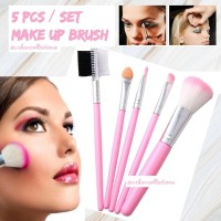 Termurah 5pcs/set Kuas Make Up Brush Kuas Makeup Eyebrow Brush Sponge